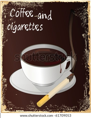 Coffee and cigarettes - stock vector