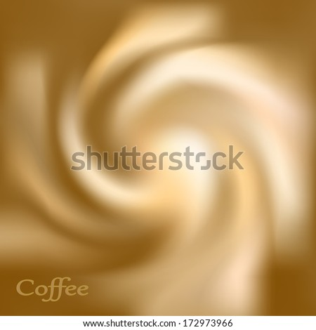 Coffee and milk cream texture. Cream swirl background. Abstract swirl circle background.  - stock vector
