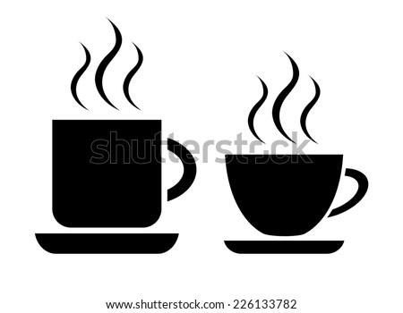 Coffee and tea cup - stock vector