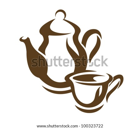 Coffee and tea dishware. Jpeg version also available in gallery - stock vector