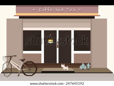 coffee and tea shop - stock vector