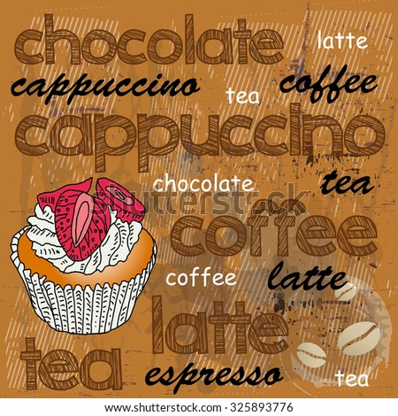 coffee background  - stock vector