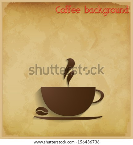 Coffee background. Vector eps10. - stock vector