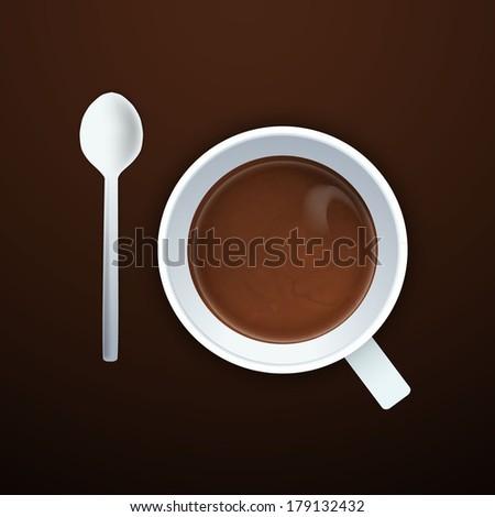 Coffee background Vector eps 10  - stock vector