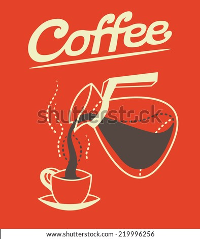 Coffee background. Vector illustration. - stock vector