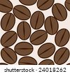 coffee bean background - stock vector