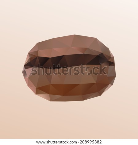 Coffee bean isolated - stock vector