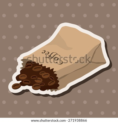 coffee bean theme elements - stock vector