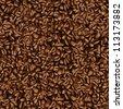 Coffee bean wallpaper - stock vector