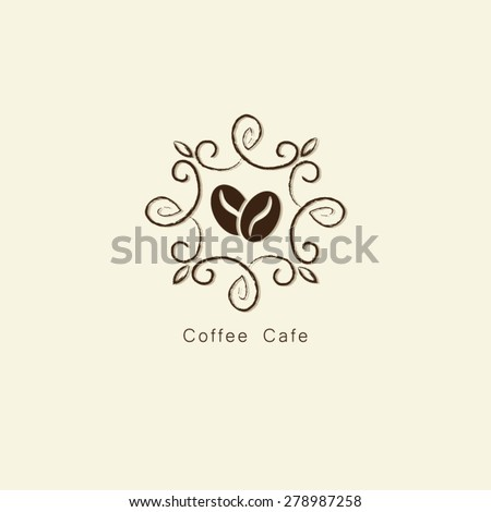 Coffee Bean Vintage Frame Logo Vector Stock Vector HD (Royalty Free ...