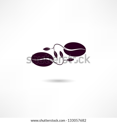 Coffee beans - stock vector