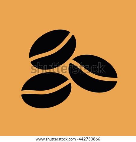 Coffee beans icon vector illustration - stock vector