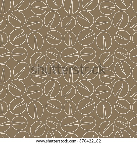 Coffee beans seamless pattern background. Vector illustration - stock vector