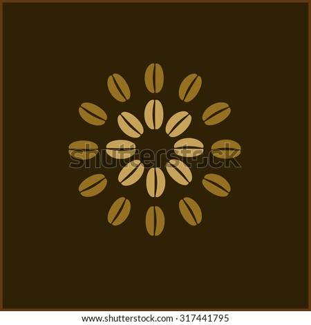 Coffee Beans Wallpaper Abstract Flower On Brown Background Bean