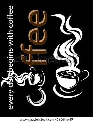 coffee beckground - stock vector