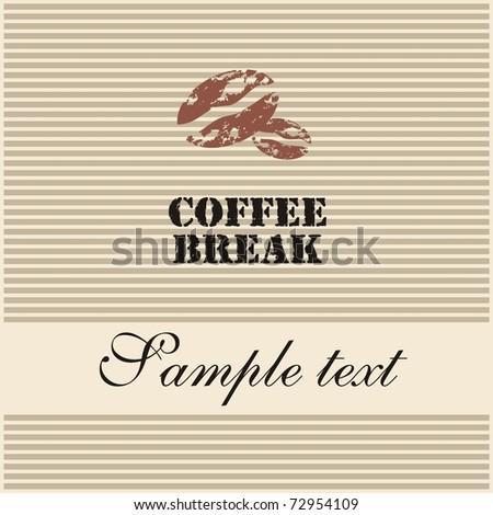 Coffee break - stock vector