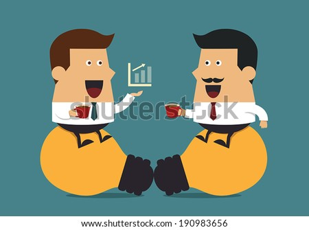 Coffee break, Business idea - stock vector