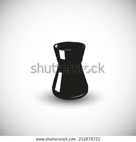 Coffee can illustration - 3d view design. - stock vector