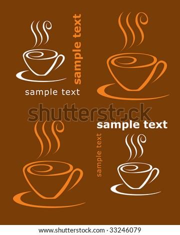 Coffee card - stock vector