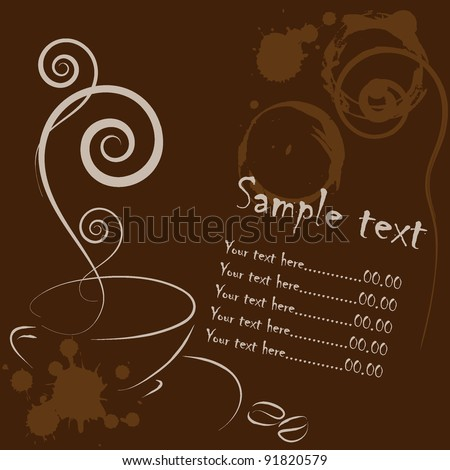 coffee card - stock vector