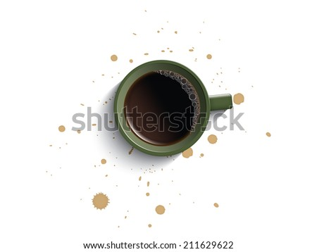 Coffee cup and dirty - stock vector