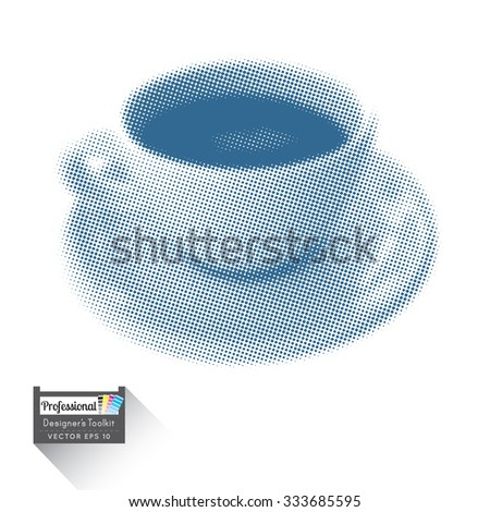 Coffee cup saucer halftone vector eps stock vector 333685595 coffee cup and saucer halftone vector eps 10 cmyk cup of coffee ready for print ccuart Image collections