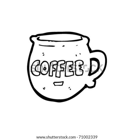 coffee cup cartoon - stock vector