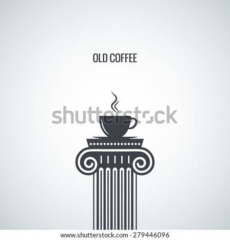 coffee cup classic design background - stock vector