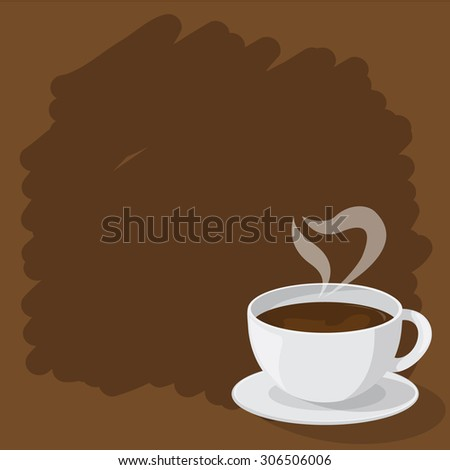 coffee cup design, abstract vector illustration - stock vector