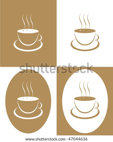 Coffee cup from coffee on a white background - stock vector