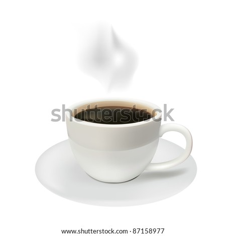 Coffee cup from coffee on a white background