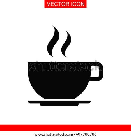 Coffee cup Icon. Coffee cup Icon Vector. Coffee cup Icon Sign. Coffee cup Icon Picture. Coffee cup Icon Image. Coffee cup Icon Illustration. Coffee cup Icon JPEG. Coffee cup Icon EPS. - stock vector