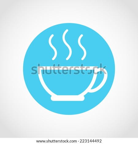 Coffee cup Icon Isolated on White Background