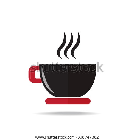 coffee cup icon on white background , vector EPS 10. - stock vector