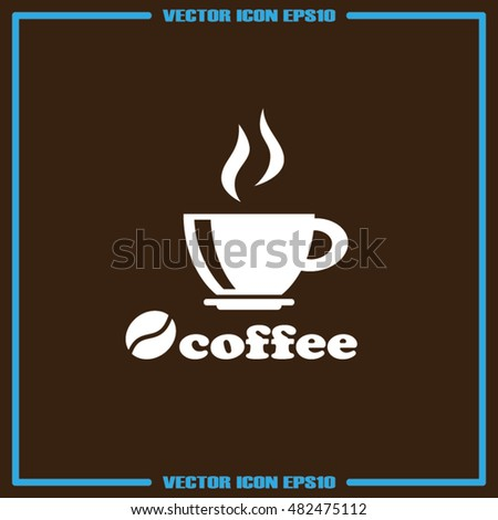 coffee cup icon vector illustration eps10.