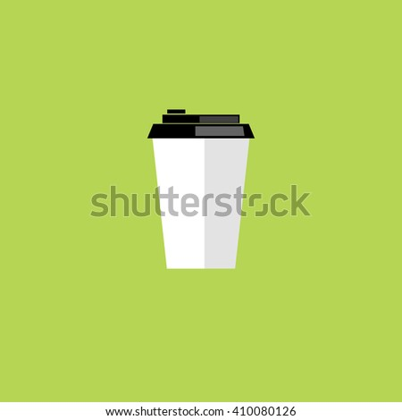 Coffee cup in flat style.  - stock vector