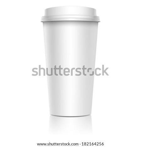 Coffee cup, isolated on white. Vector illustration. - stock vector