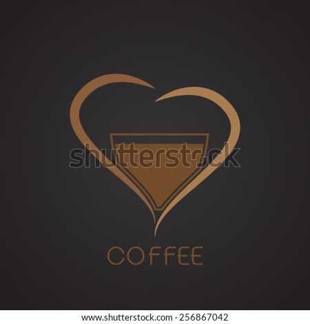 coffee cup label - stock vector