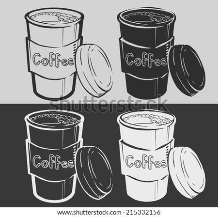 Coffee Cup on chalkboard  - stock vector