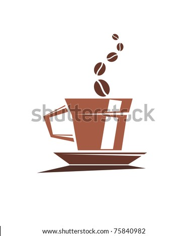 Coffee cup or logo template. Jpeg version also available in gallery