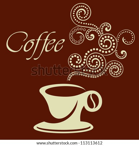 coffee cup sign - stock vector