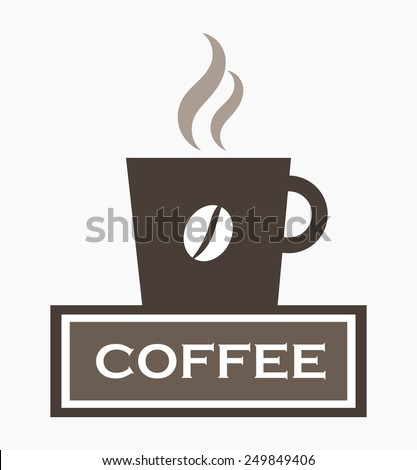Coffee cup sign. Vector illustration - stock vector