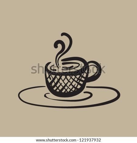 Coffee Cup Sketch - stock vector