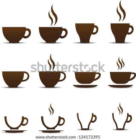 coffee cup vector stock vector 124172395 shutterstock rh shutterstock com cup vector png cup vector template