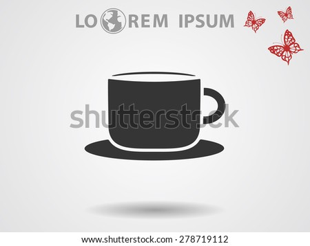 Coffee cup vector icon  - stock vector