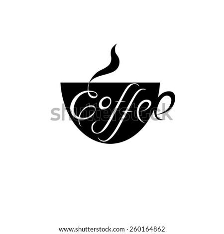 Coffee cup vector logo. Design template. Cafe shop emblem sign icon.  - stock vector