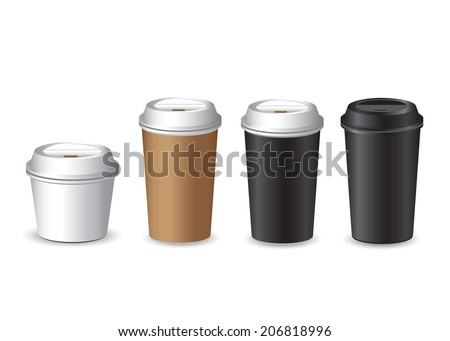 Coffee Cup vector set - stock vector