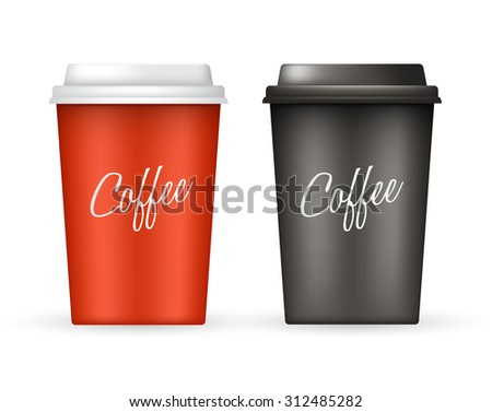 Coffee Cup Vector Template : Vector Illustration