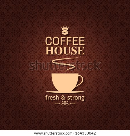 coffee cup vintage design background - stock vector