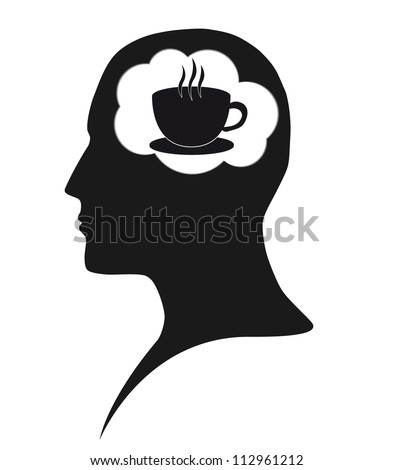 Coffee dependence - stock vector